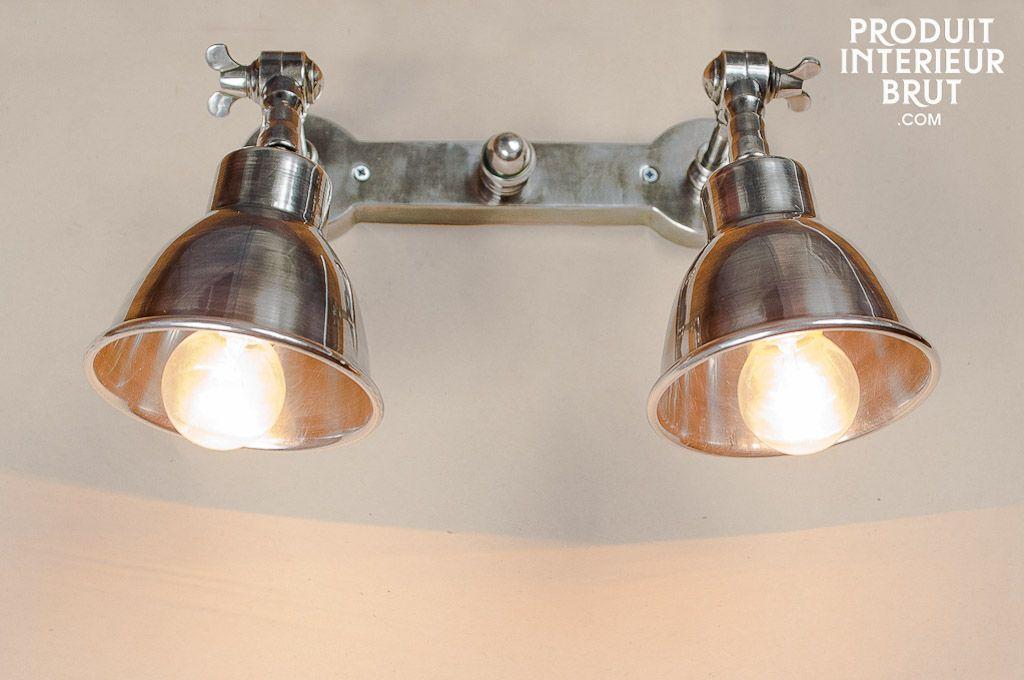 Double applique argentée | Lights, Bath and Walls