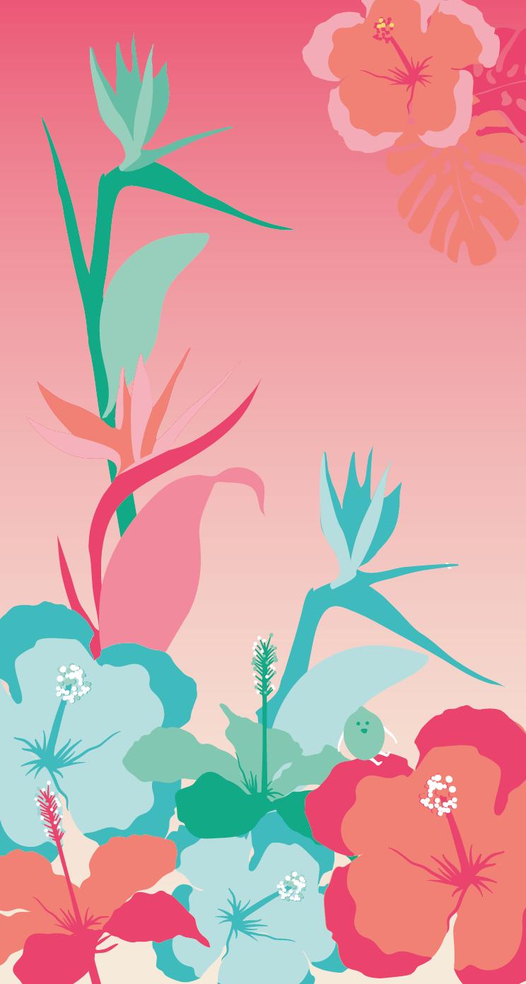 Hibiscus Phone Wallpaper
