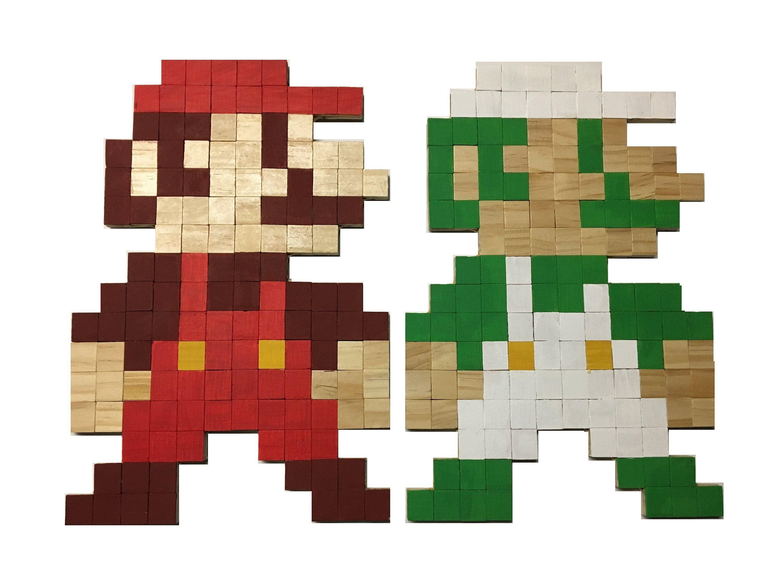 Nintendo Furniture Wood Wall Art Super Mario Bros Mario