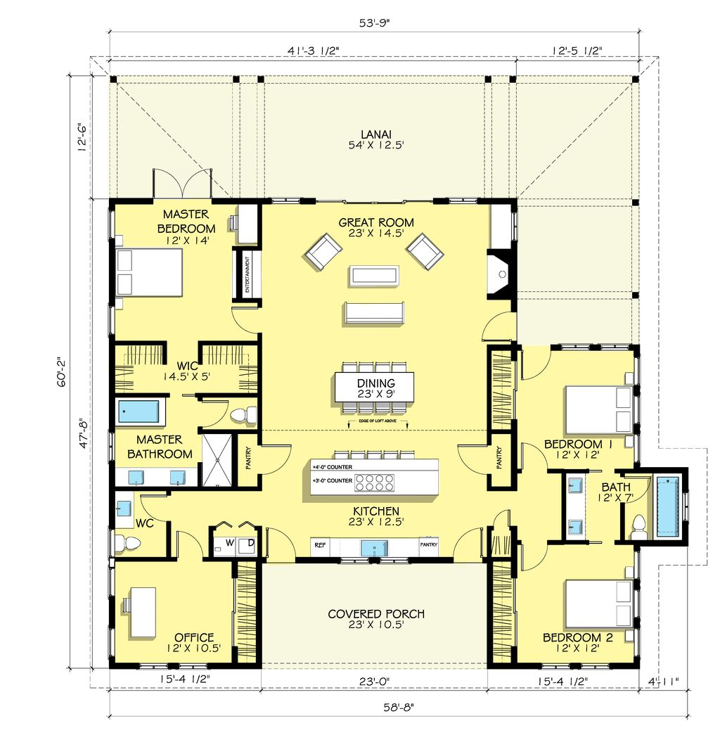 Country farmhouse main floor plan plan for Farmhouse floorplan