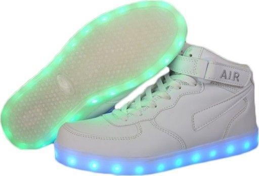 Dzieciece Buty Swiecace Led 7386 Biale Wysokie 33 Top Sneakers High Top Sneakers Air Jordan Sneaker