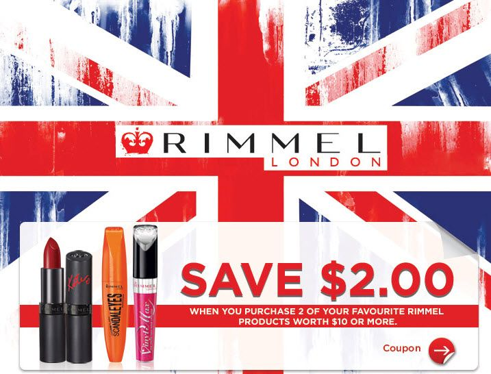 photograph about Rimmel Coupons Printable named Concealed SmartSource Coupon: $2 Off Rimmel London Goods