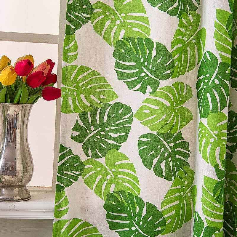 Plant Leaf Cutains Curtains Living Room Curtains Plant Leaves