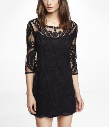 Embroidered Lace Shift Dress Express I Know I Dont Need Another