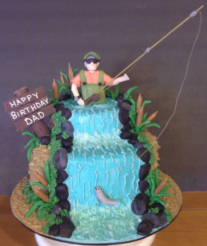 Fly Fishing Cake In 2019 Fish Cake Birthday Themed