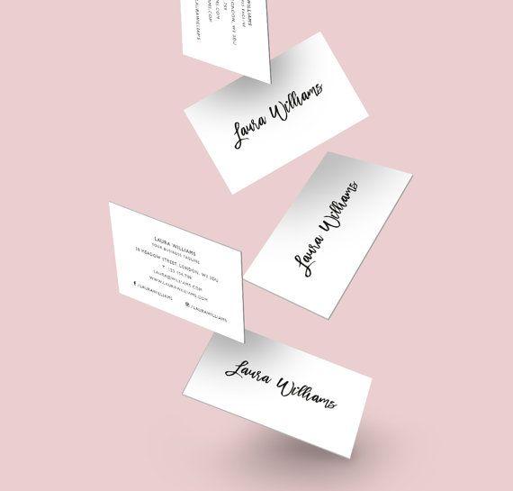 Minimalistic Calling Card Black White Business Card Creative