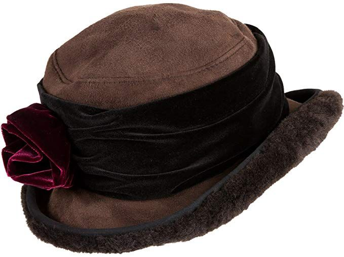 180f415556122 Fancy Flower Shearling Sheepskin Cloche Hat Review