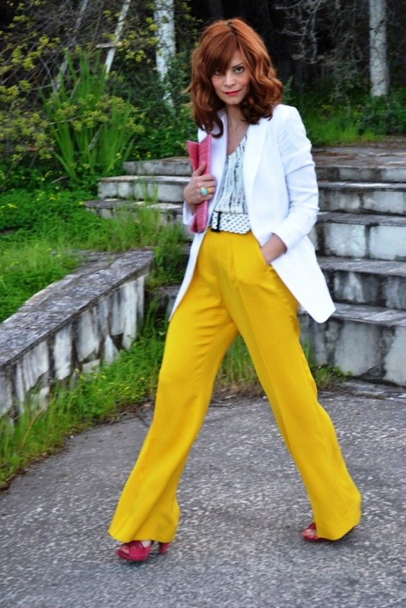 amazing yellow trousers!