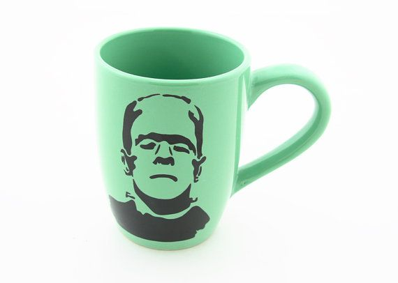 Frankenstein Monster Green  Coffee Mug Great Gift for by LennyMud, $14.00
