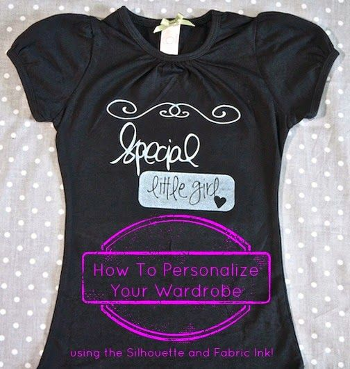 Tasty Tidbits & More: Personalize Your Wardrobe using the Silhouette and Fabric Ink!