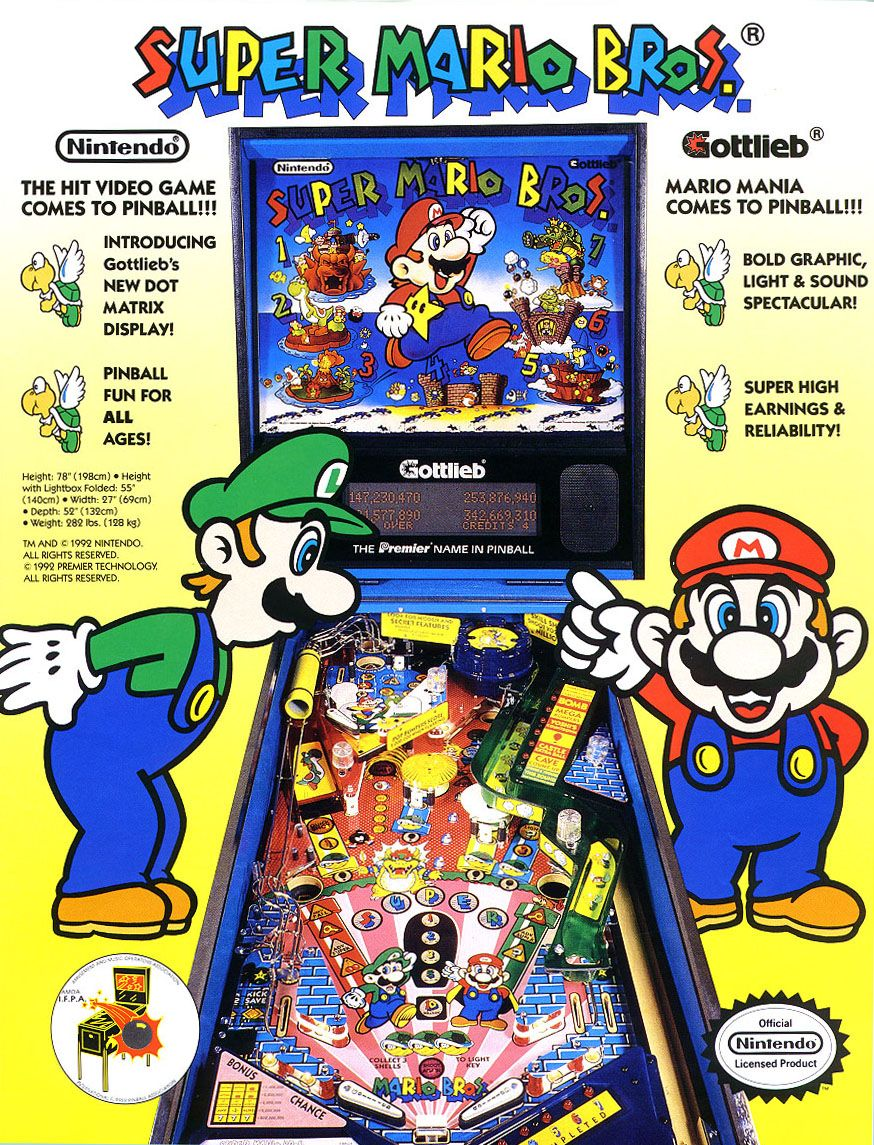 Classic Ads Super Mario Bros Pinball Super It8bit Pinball Super Mario Toys Mario Bros