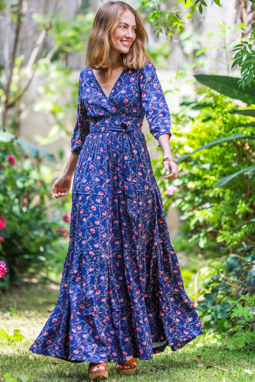 37+ Long sleeve bohemian maxi dress ideas