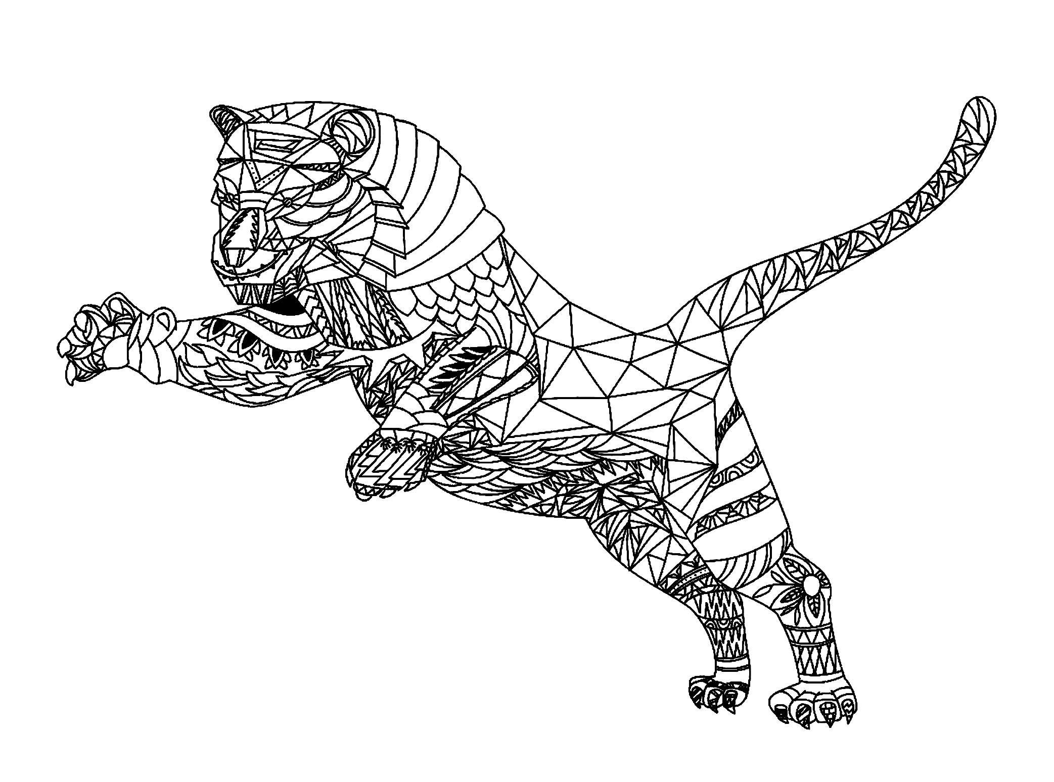 12 Sympathique Coloriage Tigre Mandala Photos