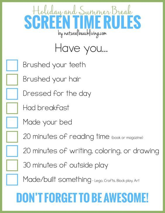 Holiday And Summer Break Screen Time Rules For Kids  Fun Activities