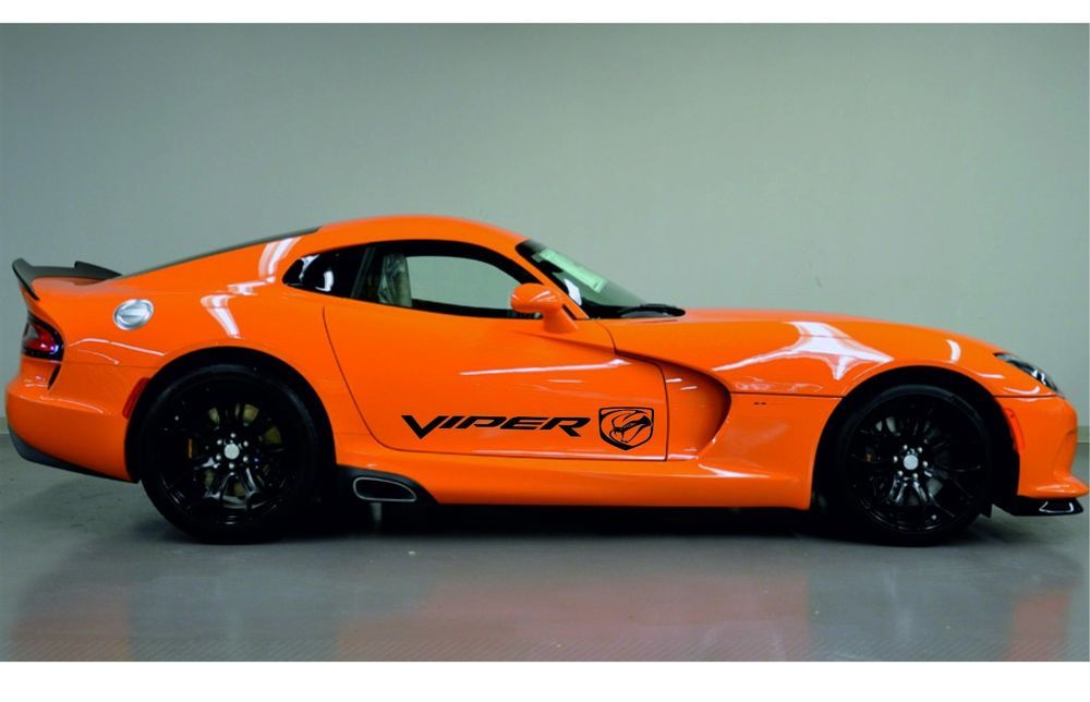 Dodge Viper 2x Side Stripes Quality Graphics Vinyl Body Decals Racing Stickers Logo It Made From High Quality Materia Racing Stickers Dodge Viper Logo Sticker