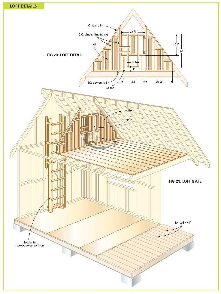 Free wood cabin plans tree house pinterest wood for Cottage blueprints and plans