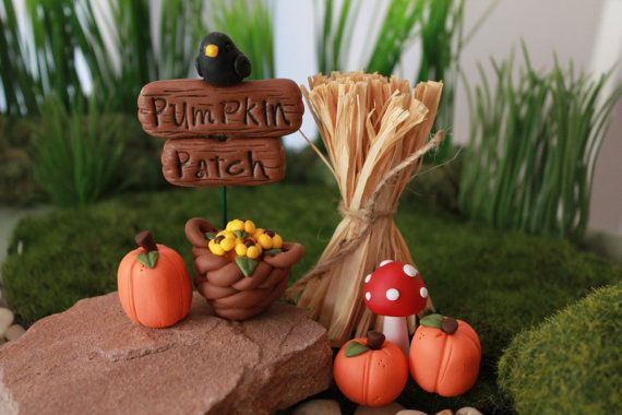 Pumpkin Patch Fairy Garden Kit Fall Autum