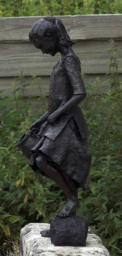 Beau Bronze Garden Or Yard #sculpture By #sculptor Robert Mileham Titled: U0027Mary  A Poorhouse Waif (Bronze Childhood Sculptures /statues)u0027 #art