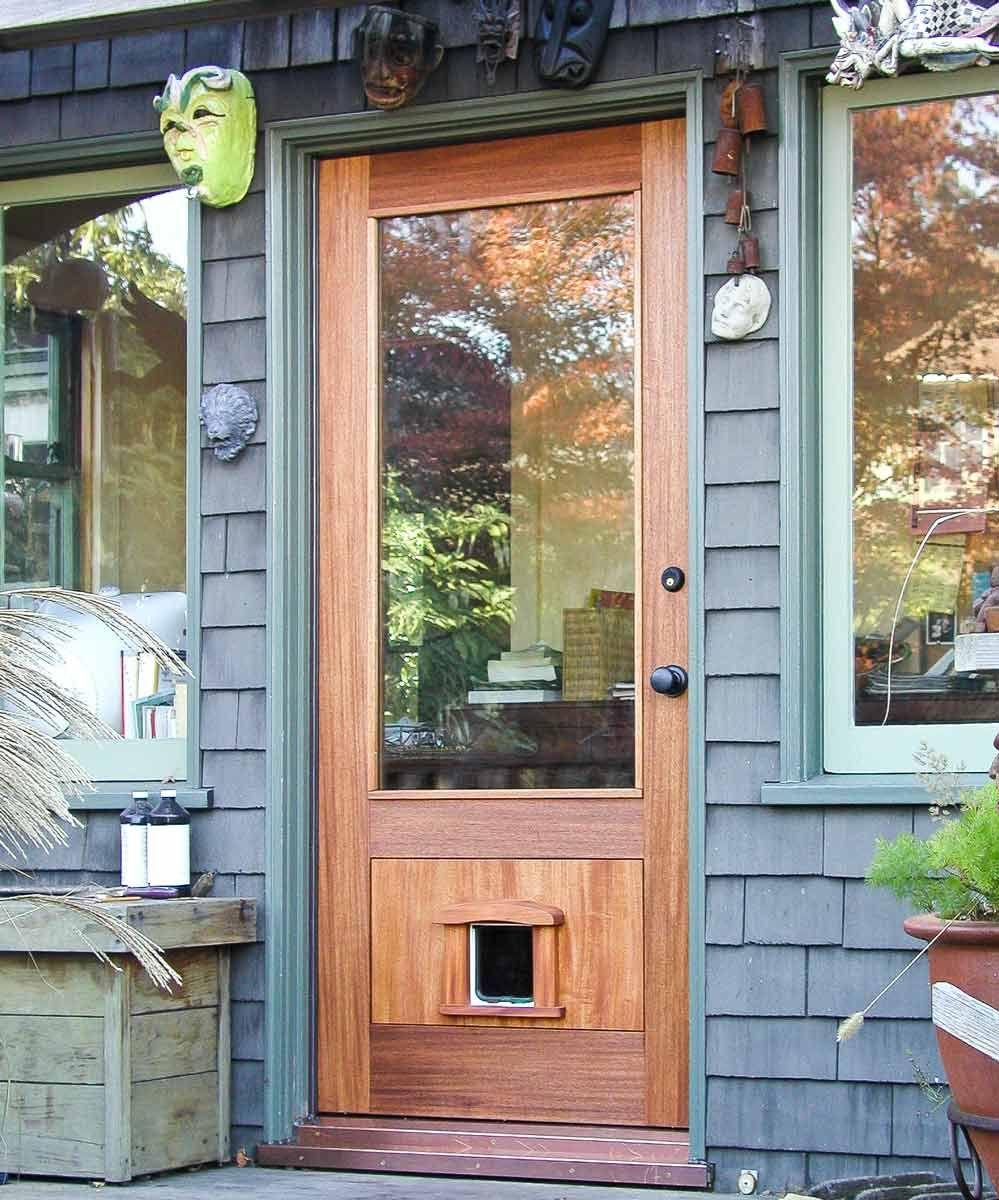 entry door with pet door Exterior doors, Modern exterior