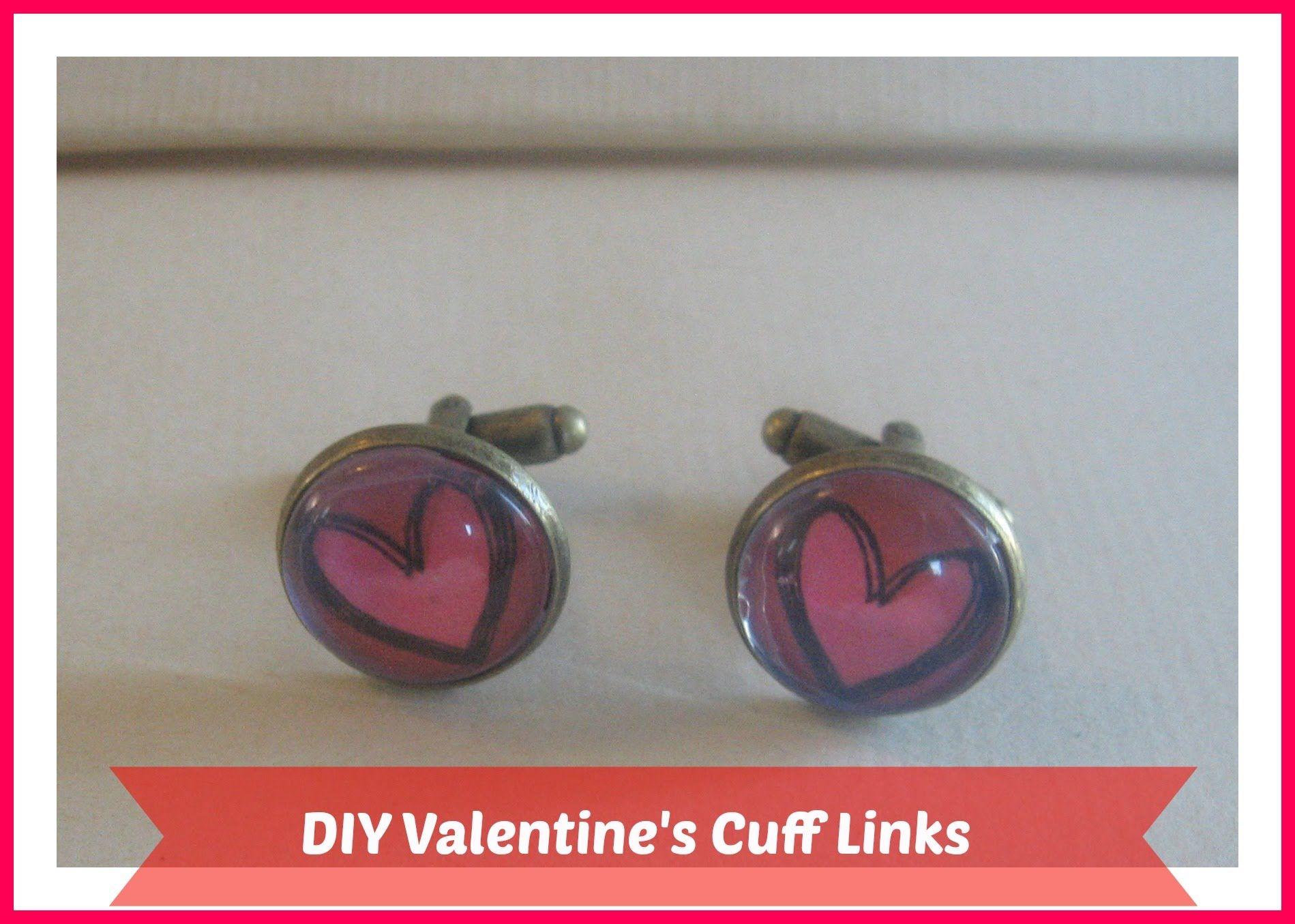 Diy Valentines Cufflinks Diy Valentines Gift Ideastutorial How To M