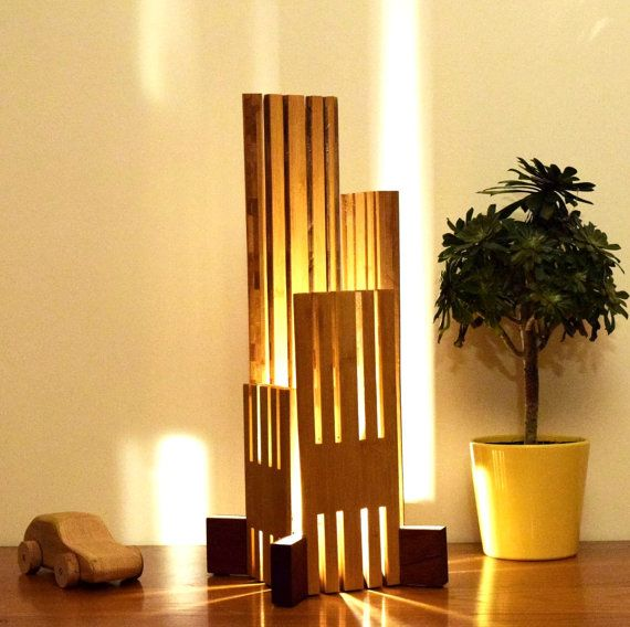 Ebrino Lamp In Sipo And Bamboo Lampe Bois Pinterest Wood
