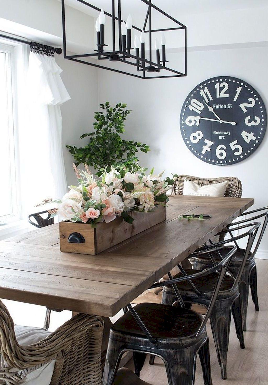 best modern farmhouse dining room decor ideas