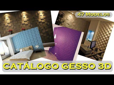 CATÁLOGO COM MODELOS DE PAREDE GESSO 3D, PLACAS 3D - YouTube