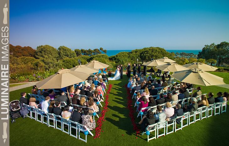 The Smaller South Facing Lawn Weddings Laguna Cliffs Marriott Wedding Dana Point