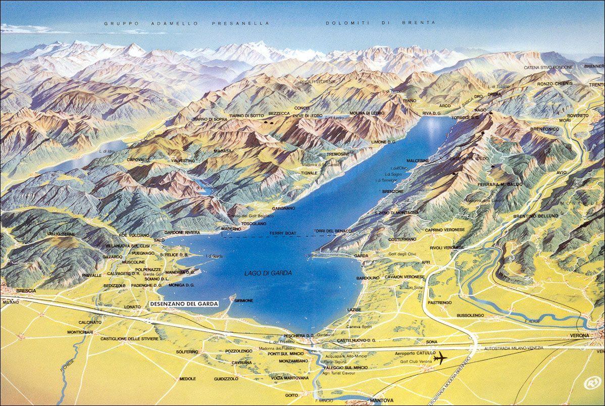Lake Garda Citymaps Gardasee Italien Und Wein