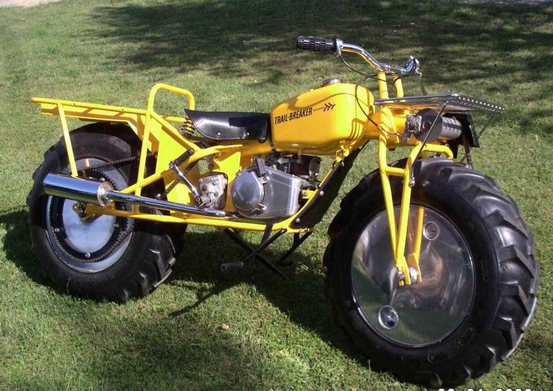 fascinating classic 1970 rokon two wheel drive motorcycle