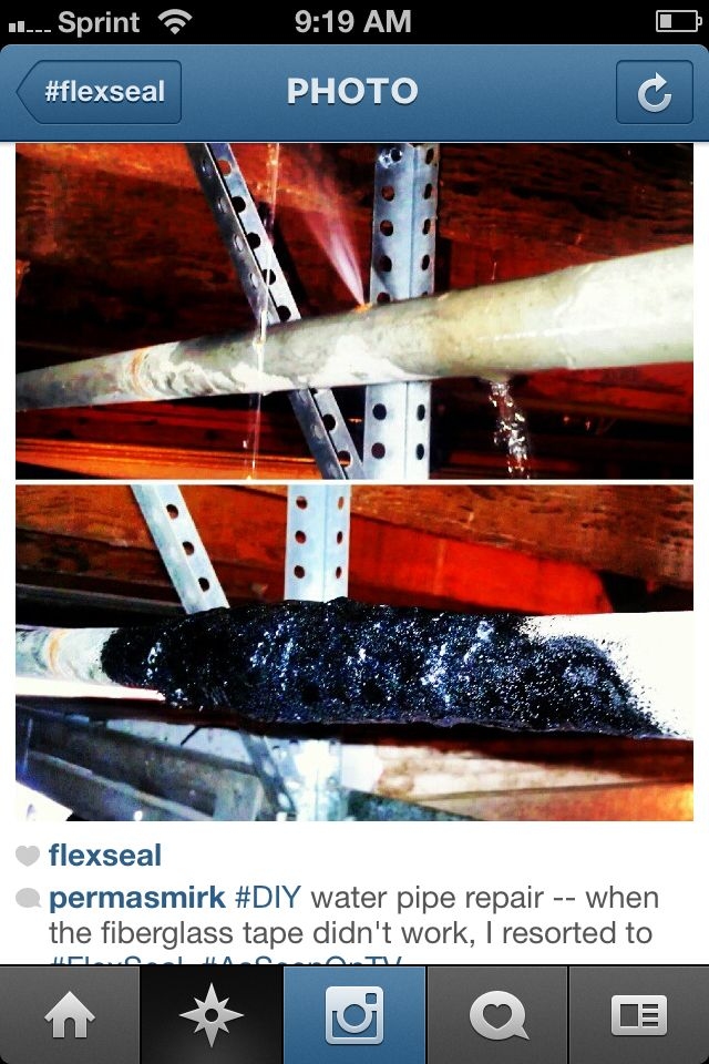 When The Fiberglass Tape Didnu0027t Work.this Customer Resorted With FlexSeal  Seal