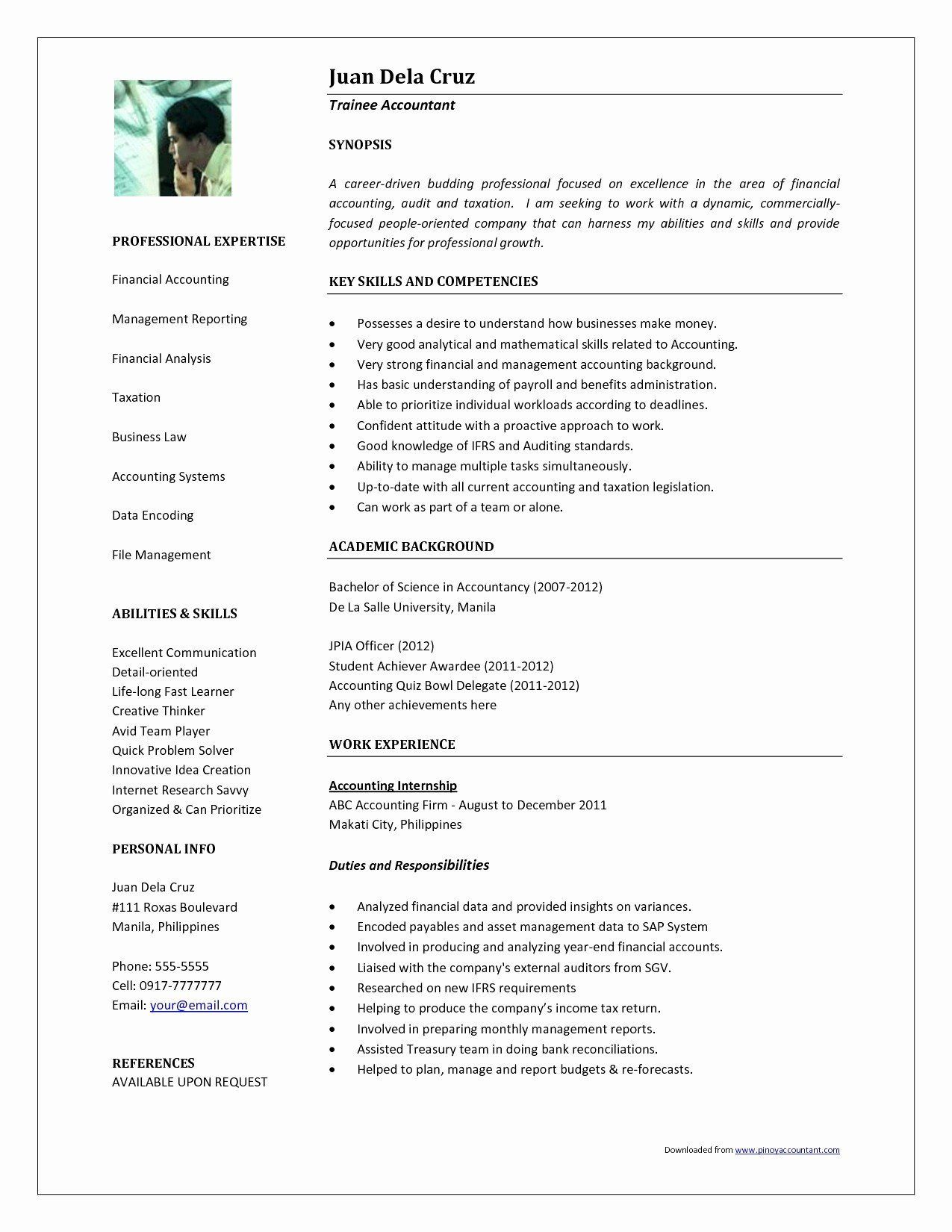 30 Skills For Accounting Resume In 2020 With Images Business