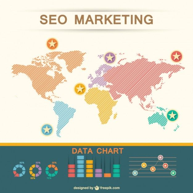 World map seo flat vector free vector infographics pinterest world map seo flat vector free vector gumiabroncs Images