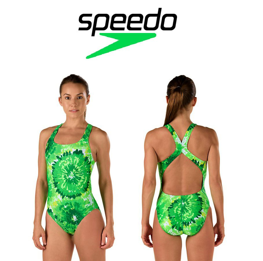 1eaf6b0353f08 SPEEDO Tropical Emerald Burst PowerFLEX Eco -Drop Back Swim Suit NWT  #Speedo #OnePiece #LuxeCella