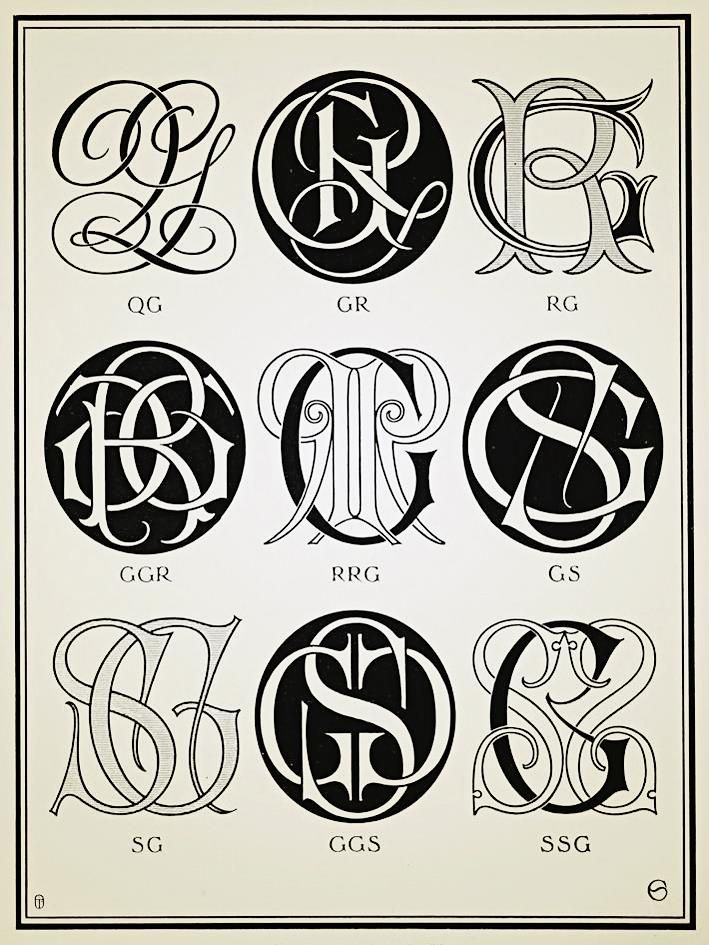 Monograms & Ciphers 1906 monograms Monogram tattoo