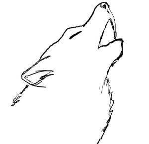 Simple Wolf Drawing Native American In 2019 Drawings Wolf