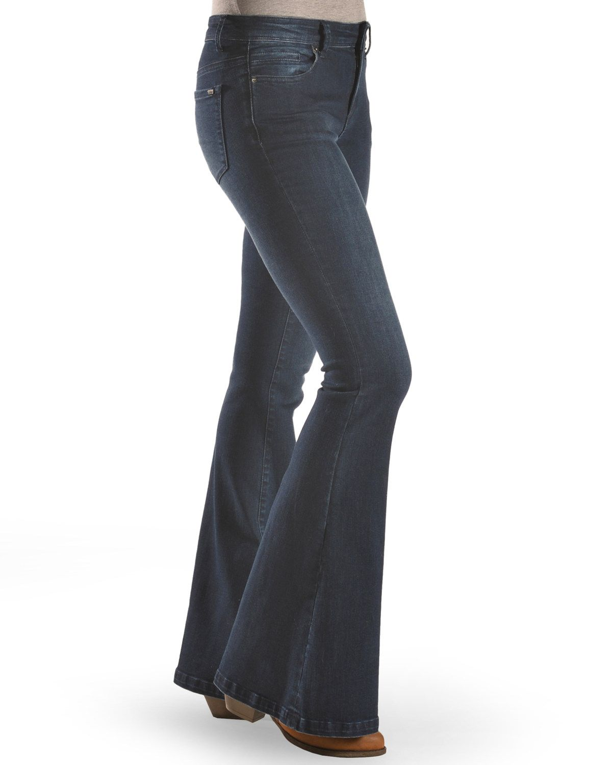 Tractr Women S Basic Fray Hem Flare Jeans In 2019 Flare