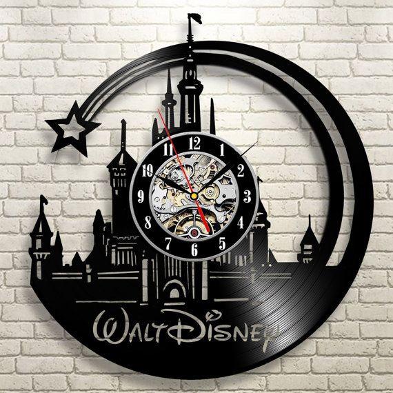 Disney world Disneyland art Vinyl record wall clock by ...