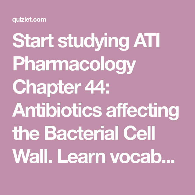 ati learning system 3.0 pharmacology