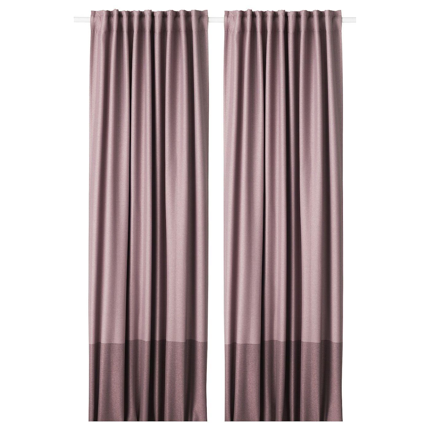 Ikea Tringle Rideau Sans Percer ikea - marjun rideaux assombrissants, 2 panneaux mauve en
