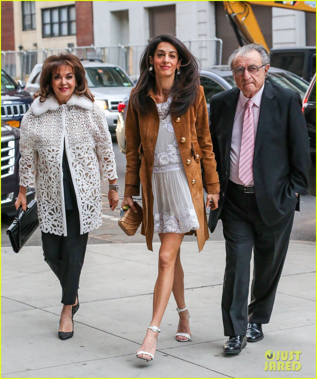 d7a021168a5 Amal Clooney Takes Her Parents to New York s Hottest Show !! Sarah s bag ❤ Amal  Clooney
