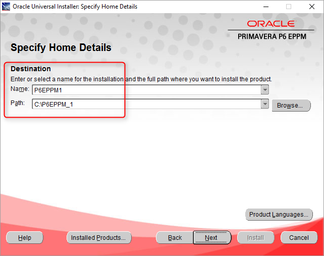 Oracle Primavera P6 17 1 7 Installation on Windows