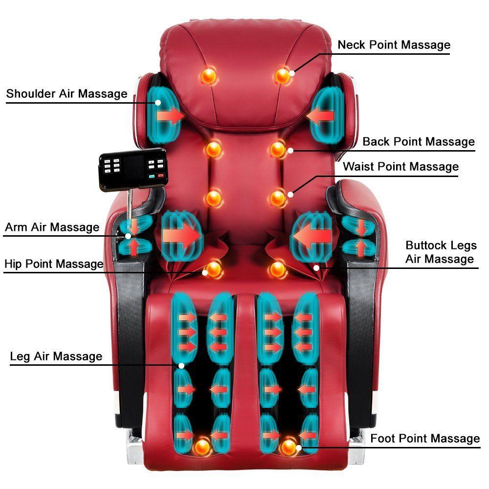 life carver full body massage chair shiatsu zero gravity recliner