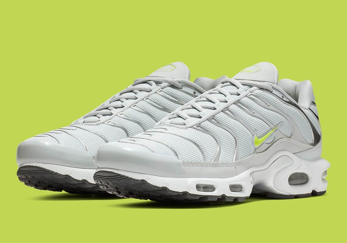 Nike Air Max Plus Arrives In Light Grey And Volt | Nike in