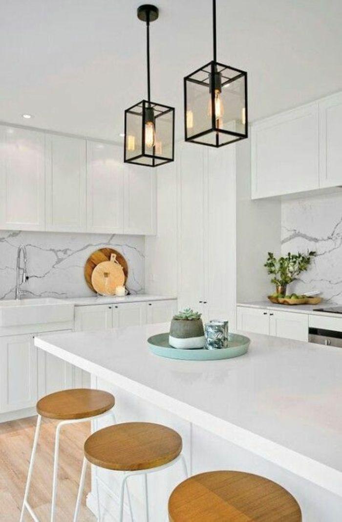▷ 1001 + Idées pour une cuisine laquée blanche + des exemples bien