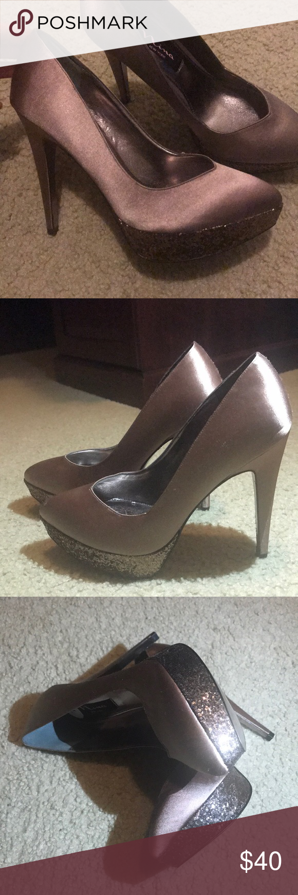 "f008168011e2 Nina New York pumps size 7 NWOT mocha color Beautiful Nina pumps  comfortable 5""heel and 1"" front NWOT just sitting in my closet haven t used  them they are ..."