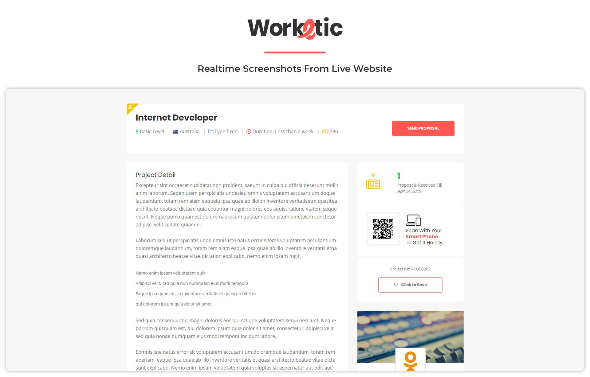 Worketic Marketplace for Freelancers Visual hierarchy