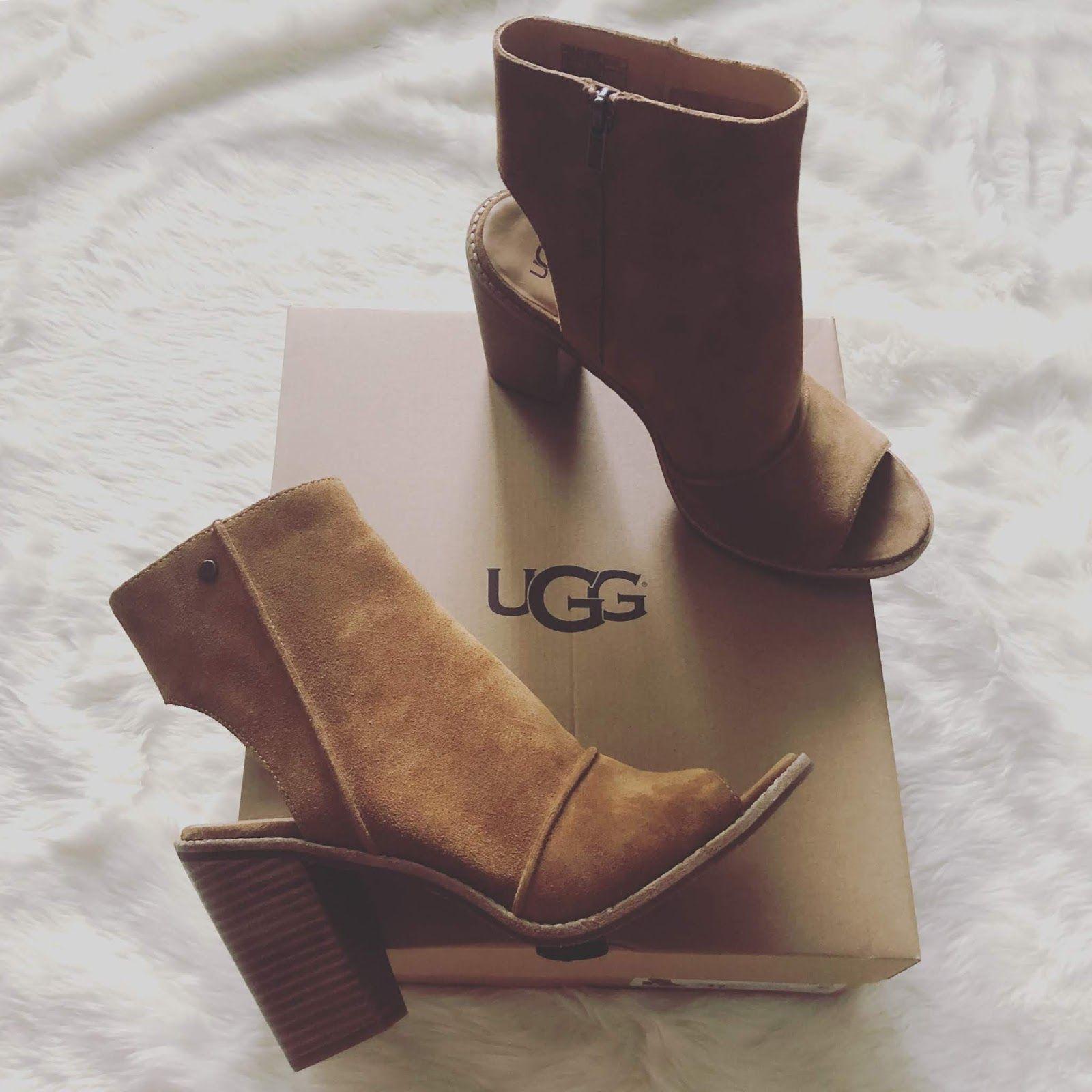 438a2d6ee1d UGG Valencia Peep Toe Bootie | Boots | Peep toe, Uggs, Peeps