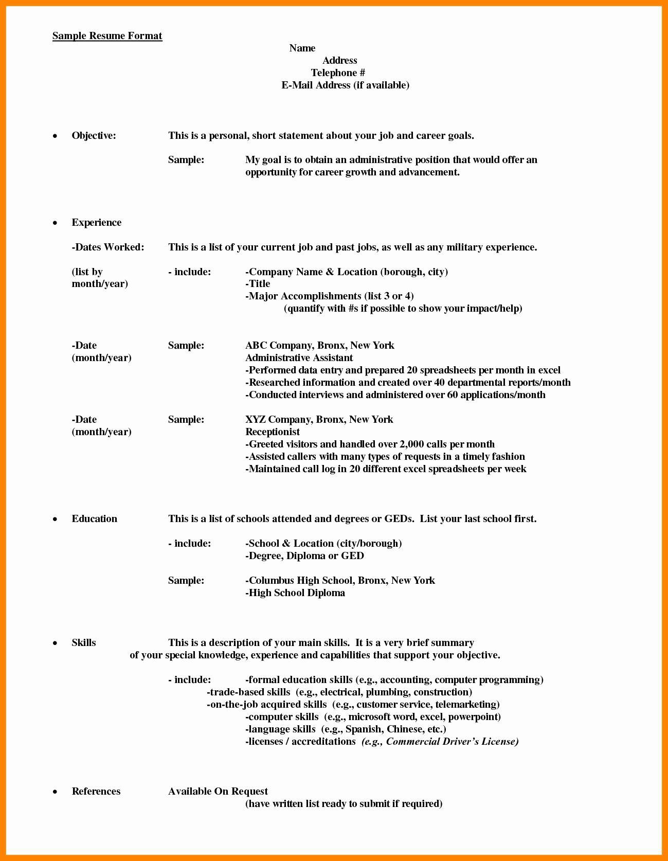 Resume Format Dates #dates #format #resume   Resume Format ...