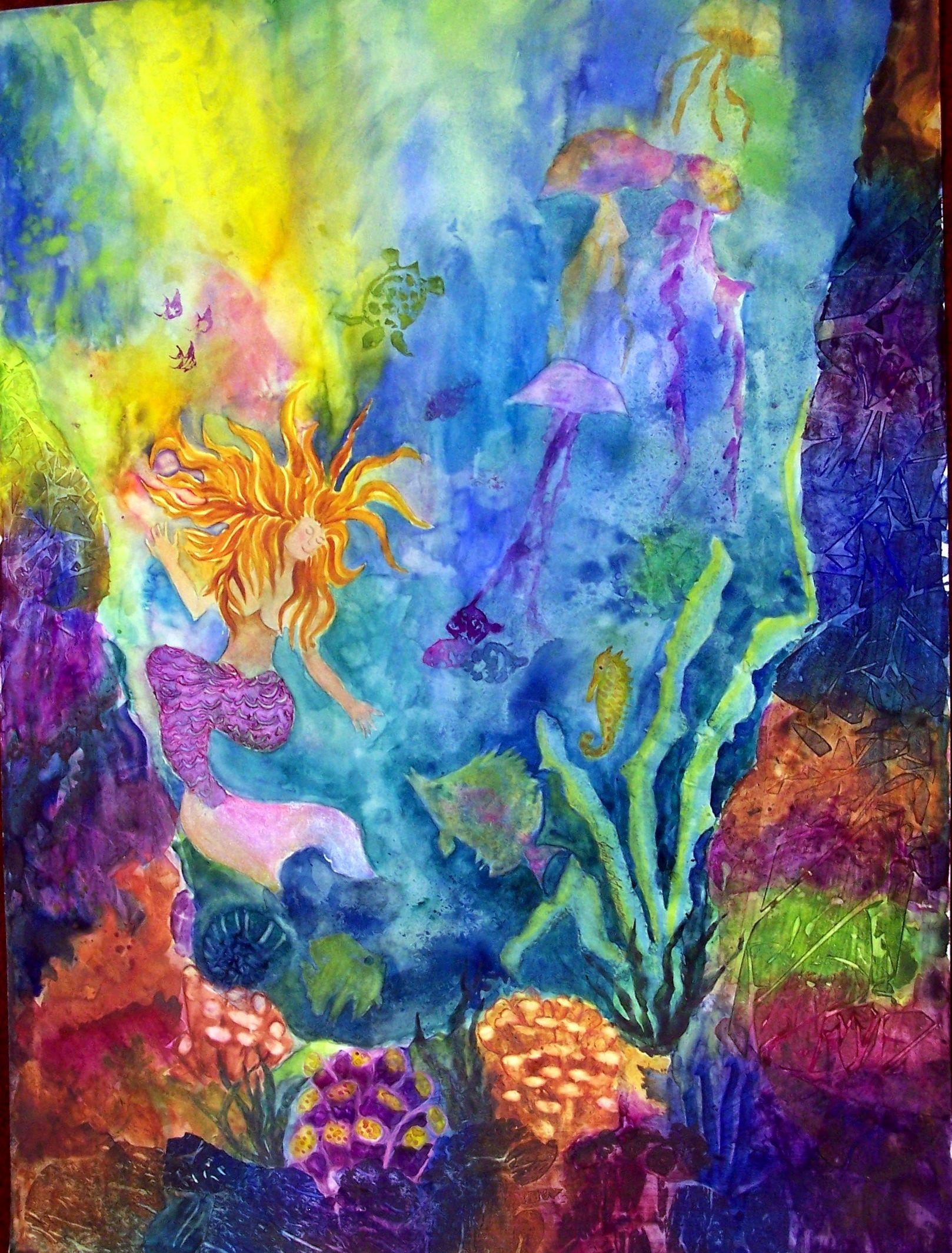 underwater painting | Underwater painting, Painting, Art